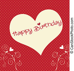 szív, születésnap, boldog