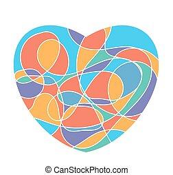 szív, szeret, elszigetelt, kedves, alakít, háttér, jel, fehér, vagy, mózesi, ikon