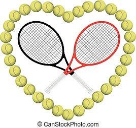 szív, tenisz