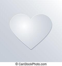 szív, valentines, dolgozat, háttér, fehér, nap