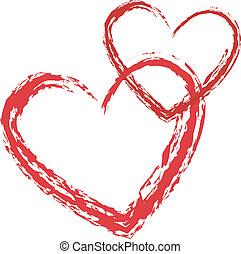 szív, vektor, szeret