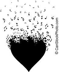 szív, zene