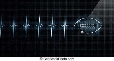 szívdobbanás, labdarúgás, monitor