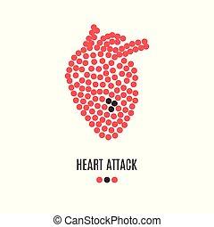 szívroham, tudatosság, poszter