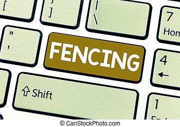 szó, írás, szöveg, fencing., ügy fogalom, helyett, verseny, sport, küzdelem, noha, kard, elhelyez, sorozat, közül, bekerít