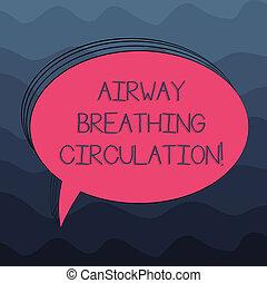 szó, írás, szöveg, szellőzőnyílás, lélegzés, circulation., ügy fogalom, helyett, emlékezőtehetség, segély, helyett, mentő, előadó, cpr, tiszta, ovális, körvonalazott, szilárd, szín, beszéd panama, üres, szöveg, balloon, photo.