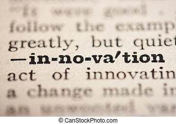 szó, újítás