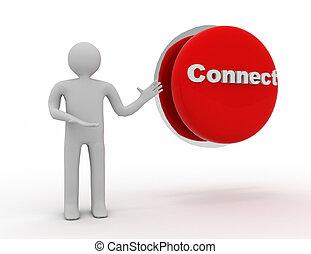 """"""", Szó, emberek,  connect"""", gombol,  -, személy, ember, 3"""
