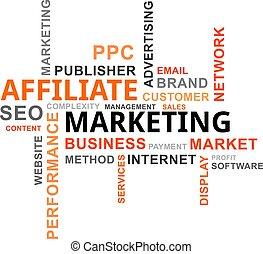 szó, -, felhő, affiliate, marketing