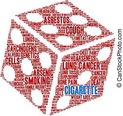 szó, felhő, cigaretta