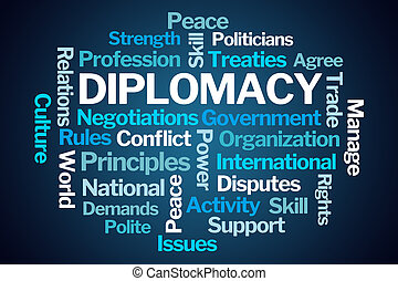 szó, felhő, diplomácia
