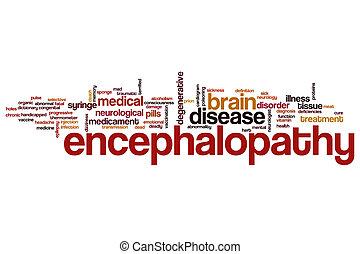 szó, felhő, encephalopathy