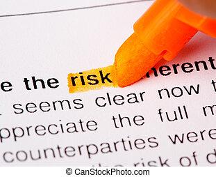 szó, kockáztat