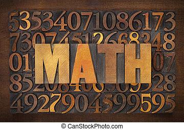 szó, (mathematics), matek
