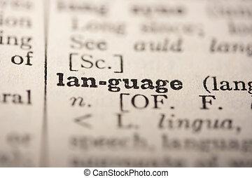 szó, nyelv