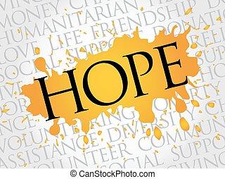 szó, remény, felhő