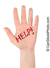 szó, segítség, kéz