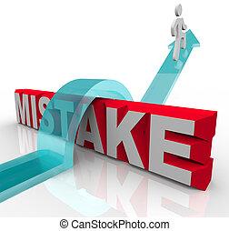 szó, siker, legyőző, személy, hiba, tévedés