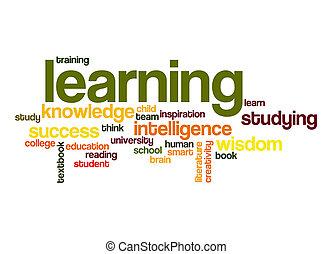 szó, tanulás, felhő