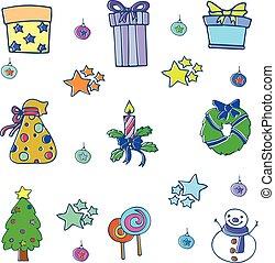 szórakozottan firkálgat, állhatatos, karácsony, gyűjtés