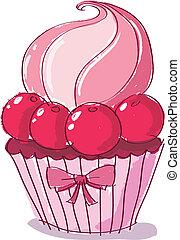 szórakozottan firkálgat, cupcake