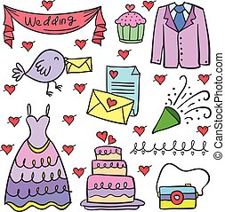 szórakozottan firkálgat, esküvő, állhatatos, elem