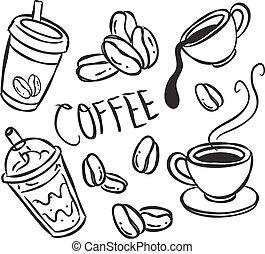 szórakozottan firkálgat, kávécserje