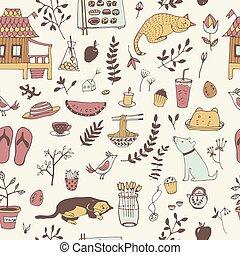 szórakozottan firkálgat, pattern., seamless