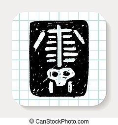 szórakozottan firkálgat, röntgen