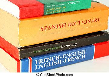 szótárak, nyelv