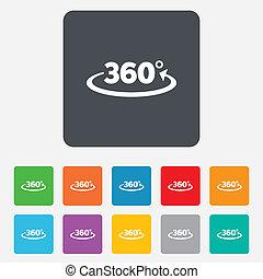 szög, mértan, jelkép, aláír, fok, 360, icon., matek