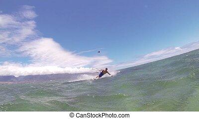 szörfözás, papírsárkány