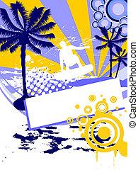 szörfözás, -, summertime idő