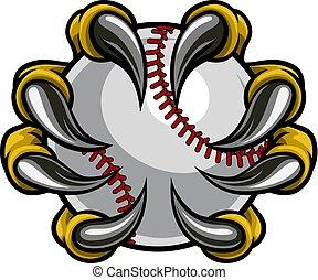 szörny, karom, kitart baseball, labda