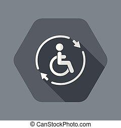 szövedék szolgáltatás, szilárd, segítség, -, fogyatékos,...