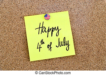 szöveg, írott, 4 july, boldog