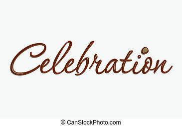 szöveg, csokoládé, ünneplés