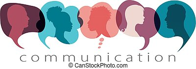 szöveg, gazdag koncentrátum, networks., értesülés, arcél, belső, concept., buborék, rész, közöl, társadalmi, árnykép, communicating., gondolat, beszéd, kommunikáció, közösség, emberek, beszéd