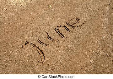szöveg, homok