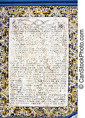 szöveg, megkövez, ősi, latin