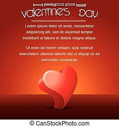 szöveg, valentines, köszönés, sablon, nap