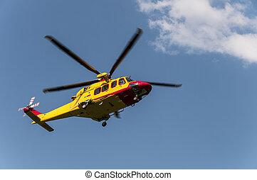 szükségállapot kiszabadítás, helikopter