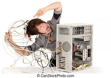 szükség, segítség, helyett, az enyém, computer!