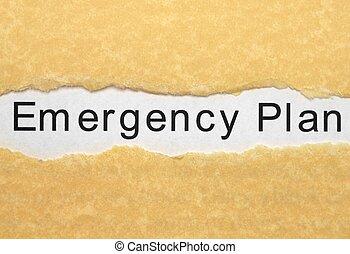 szükséghelyzet, terv