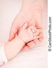 szülő, törődik, kölyök, gyengédség