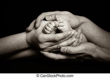 szülők, birtok, -eik, gyermekek, lábak, szelíden