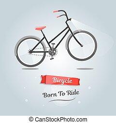 születésű, to elnyomott, egy, bike., divatba jövő, mód, helyett, háló, házhely.