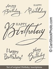születésnap, felírások