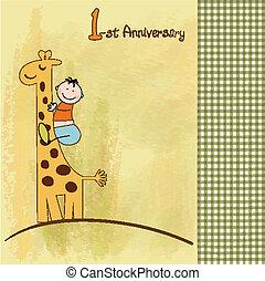 születésnap kártya, először
