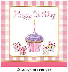 születésnap, köszönés kártya, boldog